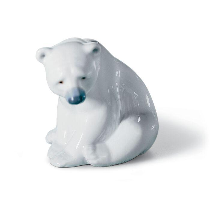 "Lladro ""Seated Polar Bear"" Porcelain Figurine"