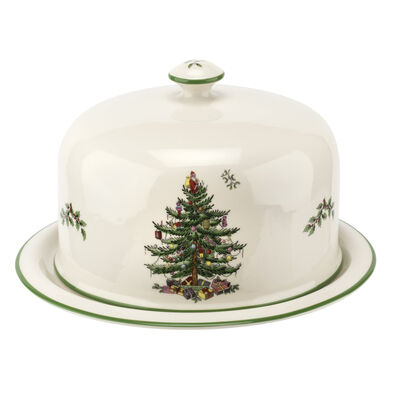 "Spode ""Christmas Tree"" Serving Platter with Dome Cover"