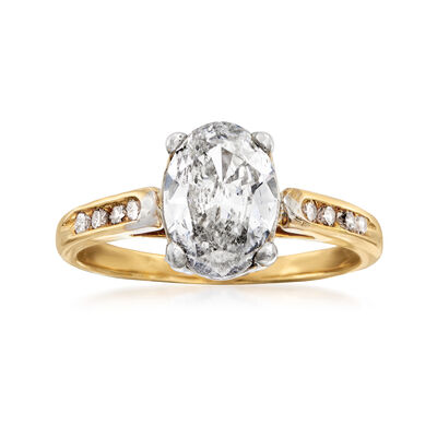 C. 1990 Vintage 1.31 ct. t.w. Diamond Ring in 14kt Yellow Gold, , default