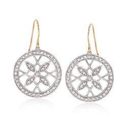 "Monica Rich Kosann ""Gate"" .90 ct. t.w. White Sapphire Round Earrings in Sterling Silver, , default"