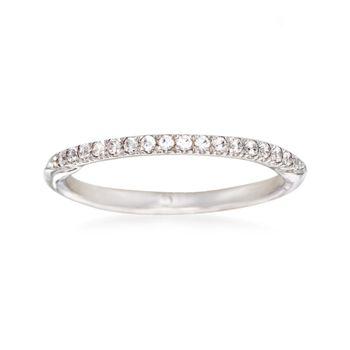 Gabriel Designs .13 ct. t.w. Diamond Wedding Ring in 14kt White Gold, , default