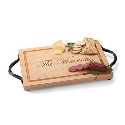 Maple Wood Personalized Rectangular Cutting Board
