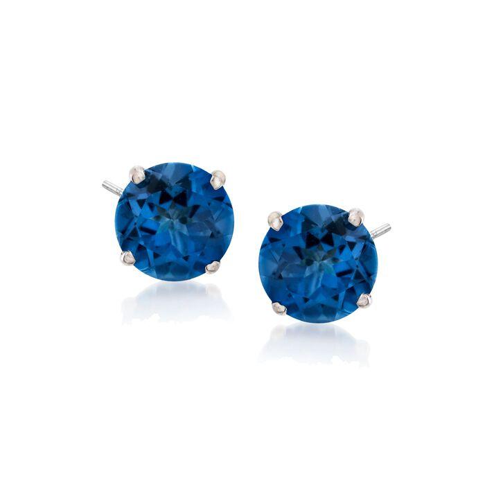 2.80 ct. t.w. Mystic Blue Topaz Stud Earrings in Sterling Silver, , default
