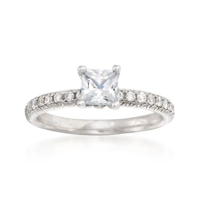 .30 ct. t.w. Diamond Engagement Ring Setting in 14kt White Gold