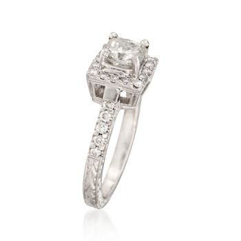1.39 ct. t.w. Certified Radiant-Cut Diamond Engagement Ring in Platinum. Size 6.5, , default