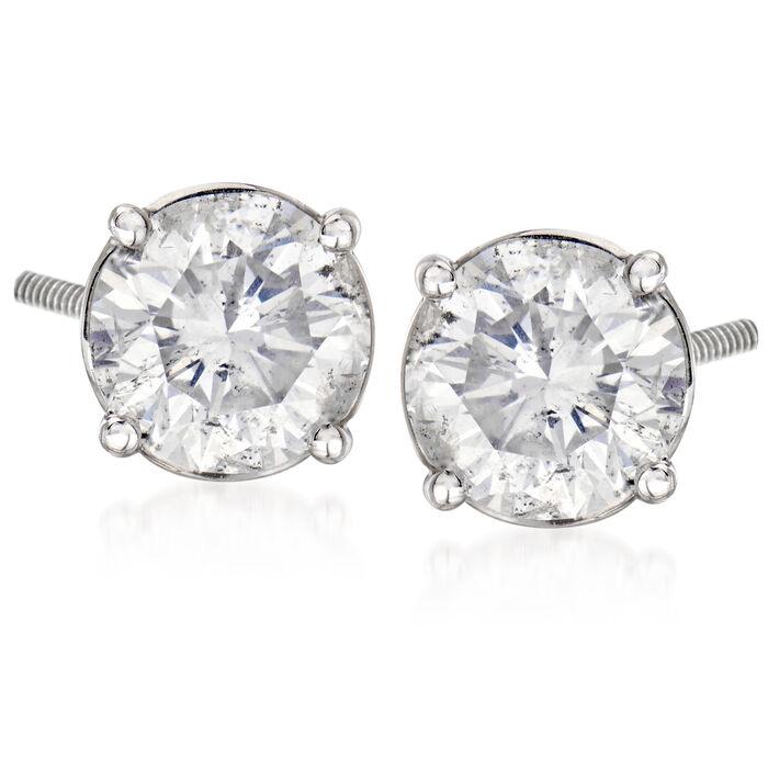 C. 2000 Vintage 4.38 ct. t.w. Diamond Stud Earrings in 14kt White Gold, , default
