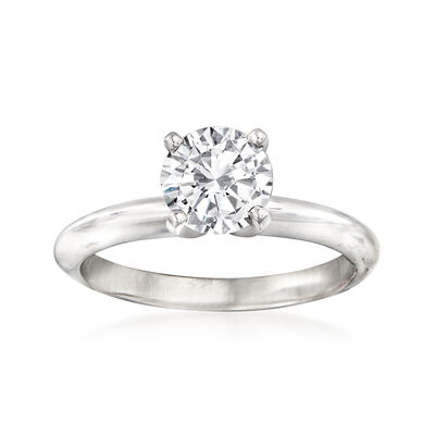 1.05 Carat Certified Diamond Engagement Ring in 14kt White Gold