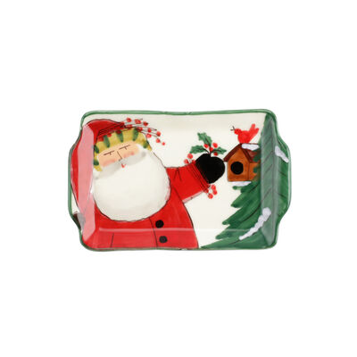 "Vietri ""Old St. Nick"" 2020 Limited Edition Small Rectangular Platter from Italy"