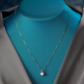 """1.00 Carat Diamond Pendant Necklace in 18kt Yellow Gold. 18"""""""