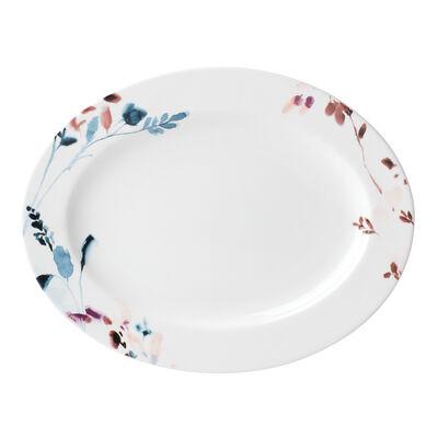 """Lenox """"Smoky Bloom"""" Porcelain Oval Platter, , default"""