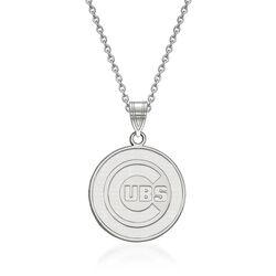 "14kt White Gold Mlb Chicago Cubs Pendant Necklace. 18"", , default"