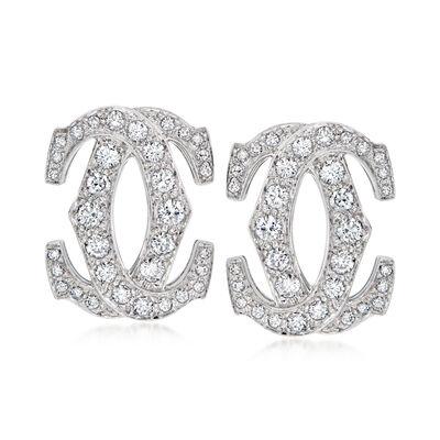 C. 1990 Vintage 2.00 ct. t.w. Diamond Earrings in 18kt White Gold