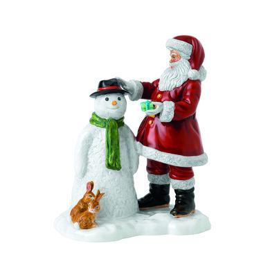 "Royal Doulton ""SantaS Snow Buddy"" Ceramic Figurine, , default"