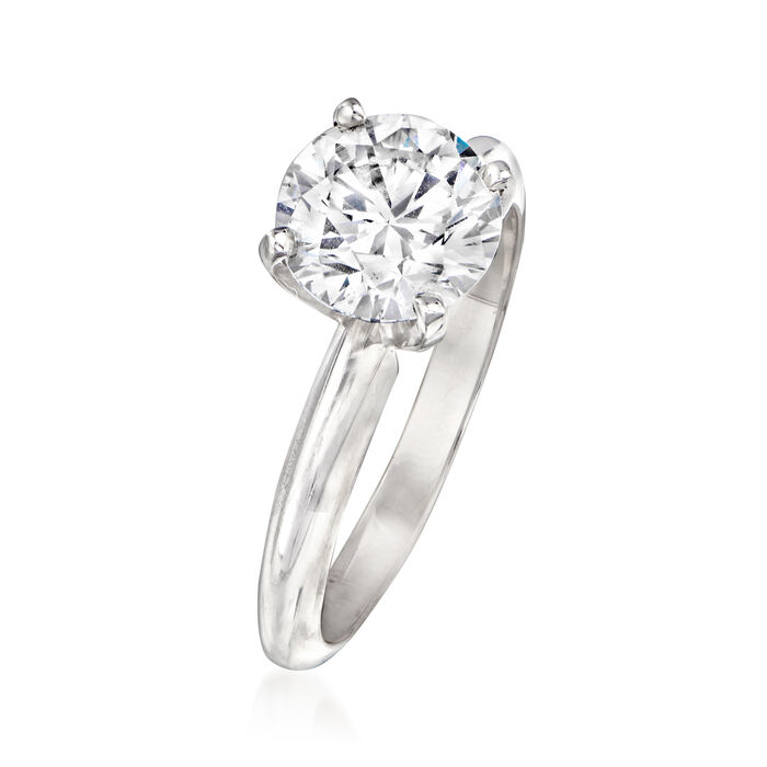 1.71 Carat Certified Diamond Engagement Ring in 14kt White Gold