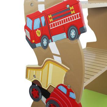 Child's Transportation Wooden Bookshelf