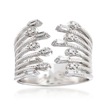 .31 ct. t.w. Diamond Open-Front Ring in 14kt White Gold, , default