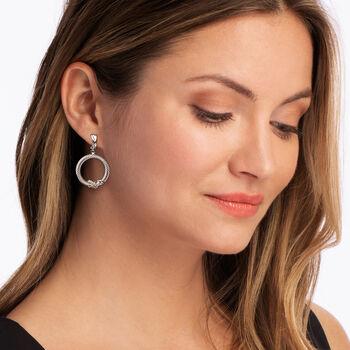 """Phillip Gavriel """"Italian Cable"""" Sterling Silver Drop Earrings. , , default"""