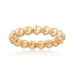 Andiamo 14kt Yellow Gold Beaded Ring, , default