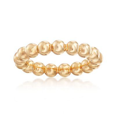 Andiamo 14kt Yellow Gold Beaded Ring, , default