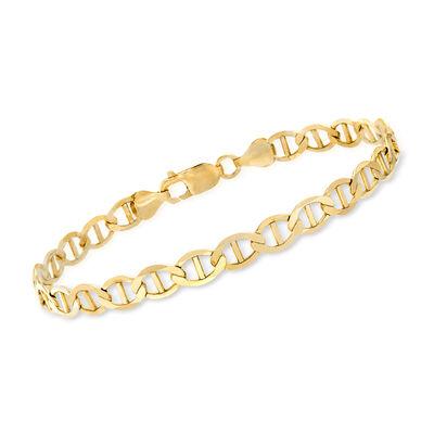 Men's 14kt Yellow Gold Marine Chain Bracelet, , default