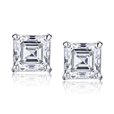 .96 ct. t.w. Certified Diamond Stud Earrings in Platinum, , default