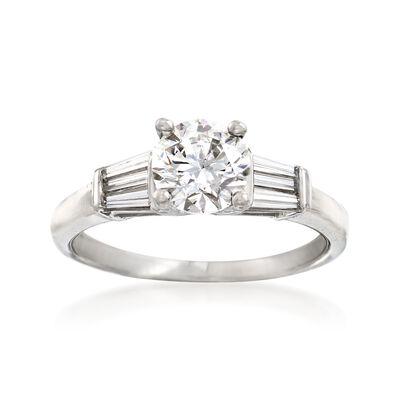 1.33 ct. t.w. Diamond Engagement Ring in Platinum, , default
