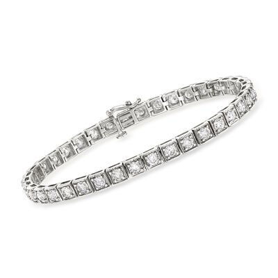 5.00 ct. t.w. Diamond Bracelet in 14kt White Gold, , default