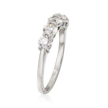 1.00 ct. t.w. Diamond Five-Stone Ring in Platinum. Size 9