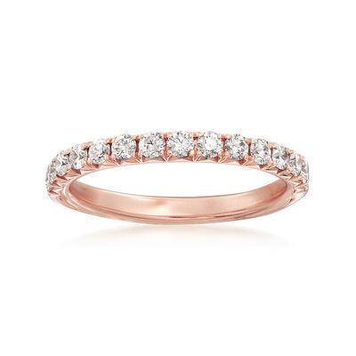 Henri Daussi .45 ct. t.w. Diamond Wedding Ring in 18kt Rose Gold, , default