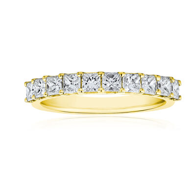 1.00 ct. t.w. Princess-Cut Diamond Ring in 14kt Yellow Gold, , default