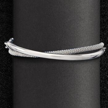 """Italian Sterling Silver Wrap Bracelet. 8"""""""