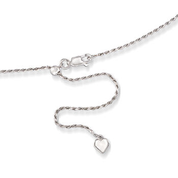Italian Sterling Silver Rope Chain, , default