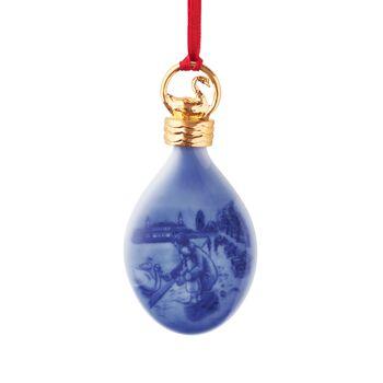 Royal Copenhagen 2017 Annual Porcelain Christmas Drop Ornament - 26th Edition, , default