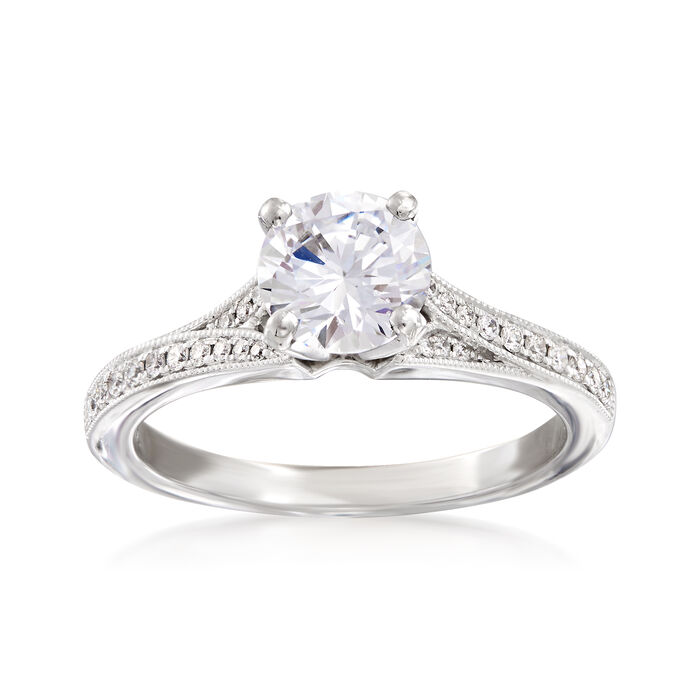 .13 ct. t.w. Diamond Engagement Ring Setting in 14kt White Gold, , default