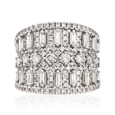 2.00 ct. t.w. Diamond Wide Ring in 18kt White Gold