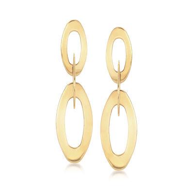 C. 2010 Vintage 18kt Yellow Gold Multi-Oval Drop Earrings, , default
