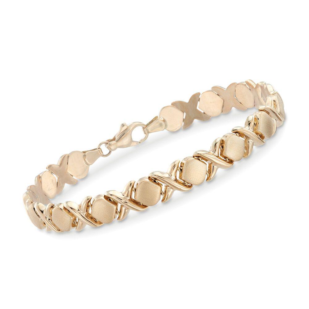 14kt Yellow Gold Xo Bracelet 7 5 Default