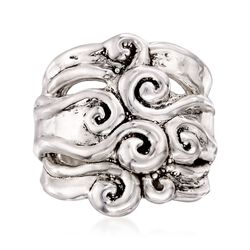 Sterling Silver Multi-Swirl Ring, , default