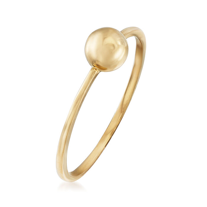 18kt Yellow Gold Puffed Circle Ring