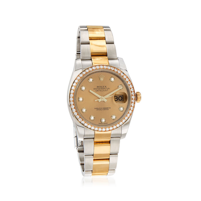 Pre-Owned Rolex Datejust Men's 36mm Automatic Stainless Steel and 18kt Yellow Gold Watch, , default