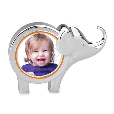 Frames. Image Featuring Reed & Barton 'Jungle Parade' Enamel and Silver Plate Elephant Round Frame 754870
