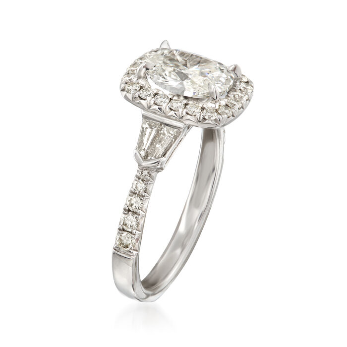Henri Daussi 2.29 ct. t.w. Certified Diamond Engagement Ring in 18kt White Gold