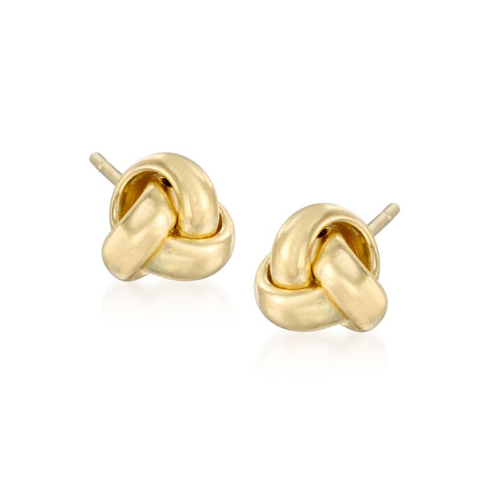 14kt Yellow Gold Knot Stud Earrings, , default