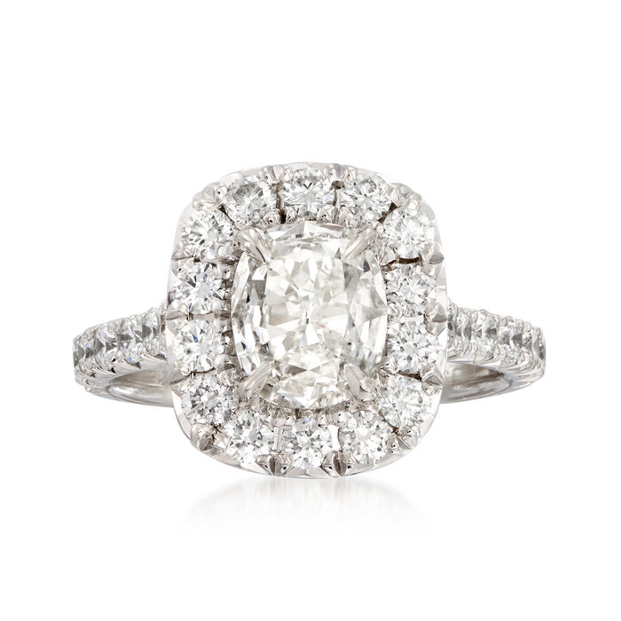 Henri Daussi 1.83 ct. t.w. Certified Diamond Engagement Ring in 18kt White Gold. Size 5, , default