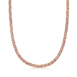 14kt Rose Gold Small Byzantine Necklace, , default