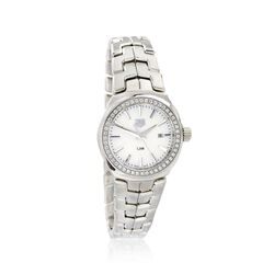 TAG Heuer Link Women's 32mm .80 ct. t.w. Diamond Watch in Stainless Steel With Mother-Of-Pearl Dial , , default