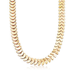 12mm Heart-Shaped Necklace in Gold-Tone Metal, , default