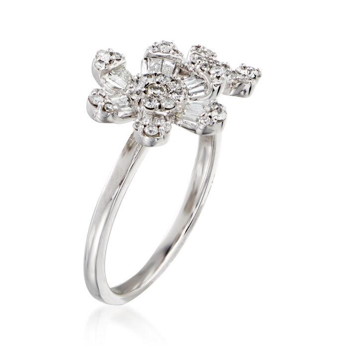 .60 ct. t.w. Diamond Flower Ring in 14kt White Gold