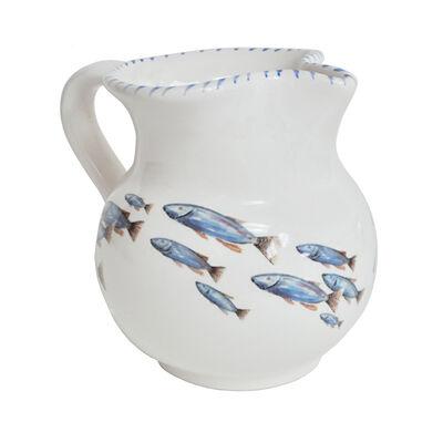 Abbiamo Tutto Italian School of Fish Ceramic Pitcher, , default