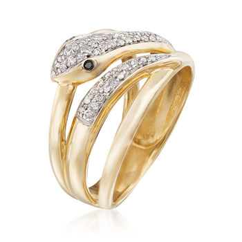 .21 ct. t.w. Diamond Snake Ring in 14kt Yellow Gold, , default